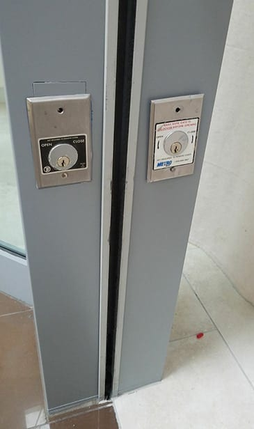 two commercial door locks
